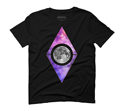 Geometric moon and galaxy Men's Graphic T-Shirt - Design By Humans Black