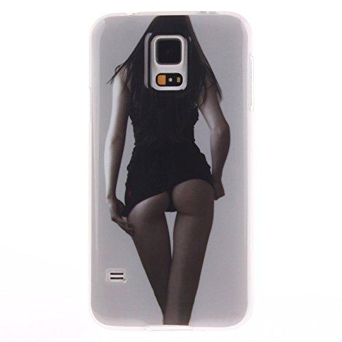 Nancen Samsung Galaxy S5 / I9600 SM-G900F (5,1 Zoll) Ultra Slim Weich TPU Material Design Silikon Handytasche Schutzhülle, Painted Mode Anti-Kratz Handyhülle Case Hülle Backcover Tasche