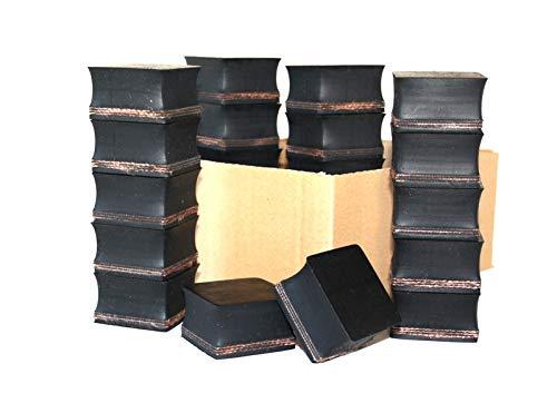 64x64x33mm (Karton mit 18 Stück) Gummi-Auflage Unterlage Wagen-Heber Hebebühne eckig Auto Set Unterstellbock Klotz Rangier-Wagenheber Puffer Reifen Reifenwechsel LKW Räder KFZ Tuning Zubehör