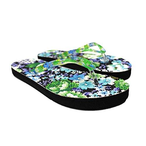 Amlaiworld Pantofole Donna,Scarpe fiori sandalo Home Toepost infradito pantofole spiaggia B