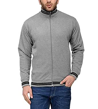 ADBUCKS Rich Cotton Full Sleeves Zipper Jacket for Mens Winter Sweatshirt (Plus Size Also Available)