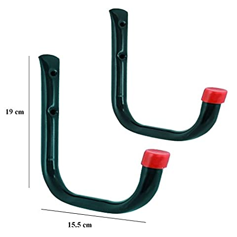 2 x Heavy Duty Storage Hooks Wall Mounted, Ladder Garage Shed Bikes Tools Garden