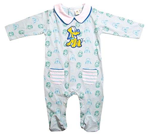 Donald Duck und Pluto Strampler Kollektion 2017 Strampelanzug 62 68 74 80 86 92 Jungen Einteiler Lang Baby Blau (74-80, Blau) (Donald Duck Anzug)