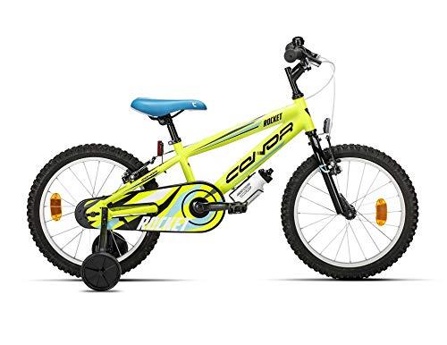 """Conor Rocket 18"""" Bicicleta Ciclismo Unisex Infantil, Juventud, Amarillo"""