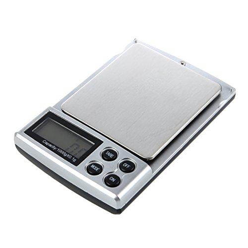 SODIAL (R) 0.1 bis 1.000 Gramm 0.1-1kg Mini Kueche Buero Schmuck Elektronische Digitale Tasche Skala Balance Mini-digital-tasche