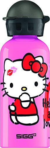Sigg Trinkflasche Pink (SIGG Hello Kitty Love, Kinderflasche, Auslaufsicher, BPA Frei, Aluminium, Pink - 0.4 L)