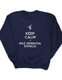 HippoWarehouse KEEP CALM Y HAZ GIMNASIA RITMICA jersey sudadera suéter derportiva unisex niños niñas