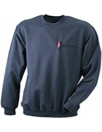 JAMES & NICHOLSON - sweat-shirt poche poitrine - qualité supérieure - JN924 - homme
