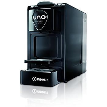 Indesit CM HPS LB1 I Independiente Manual Máquina de café en cápsulas 1tazas Negro - Cafetera (Independiente, Máquina de café en cápsulas, Cápsula de café, 1300 W, Negro)