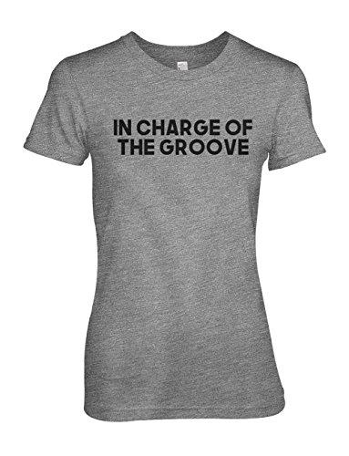 In Charge Of The Groove Komisch Musician Damen T-Shirt Grau