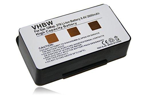 BATERÍA duración EXTENDIDA 2600mAh 8.4V compatible von Garmin GPSMAP 276, 276c, 278, 296, 396, 496 sustituye 010-10517-00, 011-00955-00, 010-10517-01