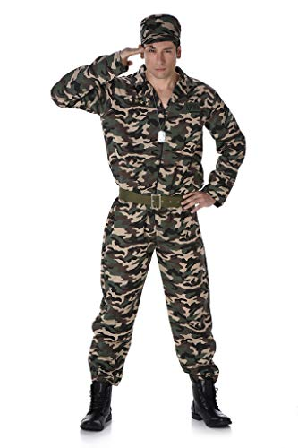 Karnival 82094Stecker Armee Camo Anzug Kostüm, Herren, Multi, - Mens Spielzeug Soldaten Kostüm
