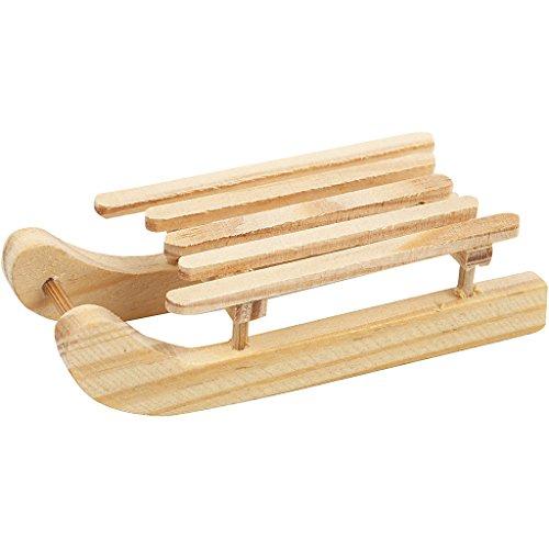 Holzschlitten , Größe 6,5x2,5 cm, Kiefernholz, 2Stck.