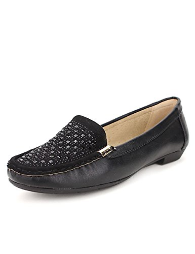 Cendriyon Mocassin Noir CHILICO Mode Chaussures Femme Noir