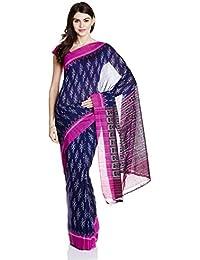 IndusDiva Blue Nuapatna Cotton Handloom Saree