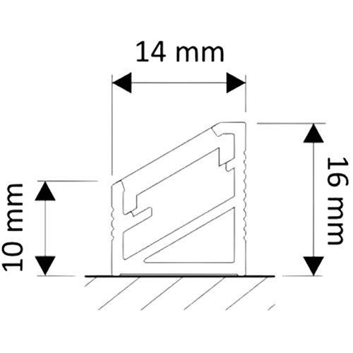 (14,95 €/m) Aluprofil 2m Aufbau Aluminium Eckprofil Profil – für LED Lichtband bis 10mm (2m opal) - 3