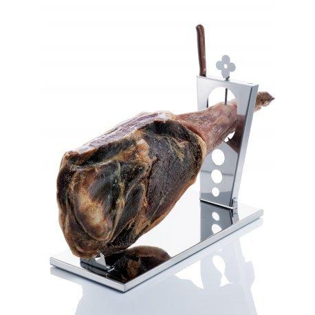 Jamonero-plegable-en-acero-inoxidable-con-cuchillo-Arcos-incorporado