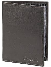 Rimbaldi® - Lederetui für den alten Personalausweis und den KFZ-Schein aus weichem naturbelassenem Rinderleder in Schwarz, Schwarz