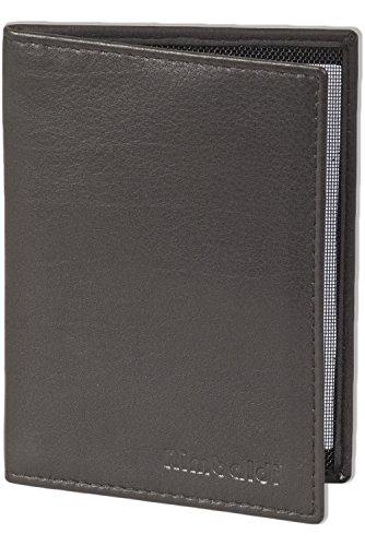 Rinaldo® Lederetui für den Alten Personalausweis und den KFZ-Schein aus weichem, naturbelassenem Rindsleder in Schwarz