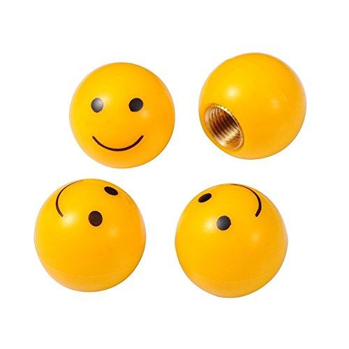 Smiley, cappucci di protezione, 4pezzi, si adatta a auto, bicicletta o motocicletta (Stem Spacer Spacer)