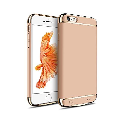 MYGIRLE Batterie-Kasten 2500 / 3500mAh Fall Charging für iPhone 6 / iPhone 6s 4,7/5,5-Zoll-Energien-Bank-Ladegerät-Fall Wiederaufladbare Juice Pack,Gold,i6/6s[2500mah]