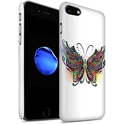 Carcasa/Funda Mate Broche de Presión en para el Apple iPhone 7 / serie: Animales ornamentales - Mariposa