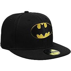 New Era Batman - Gorra para hombre, color negro, talla 7 3/8