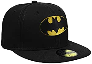 New Era Men's Character Basic Batman 59Fifty Fitted Baseball Cap, Black, Small (Manufacturer Size:718)