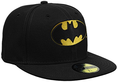 New Era Character Basic Batman - Gorra para hombre, color negro, talla 7 1/8