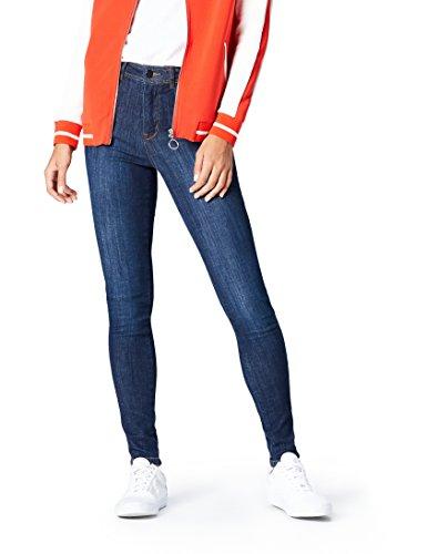 FIND DC2752S- plain jeans skinny donna, Blu (Denim),Dimensioni di fabbricazione: Medium