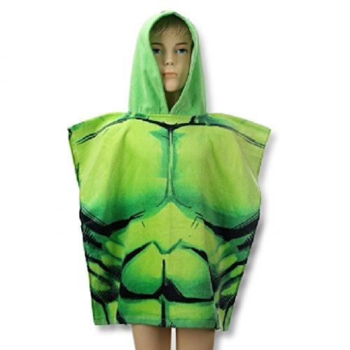Kids-Verde-Hulk-de-Los-Vengadores-con-capucha-baotoalla-de-playa-Poncho