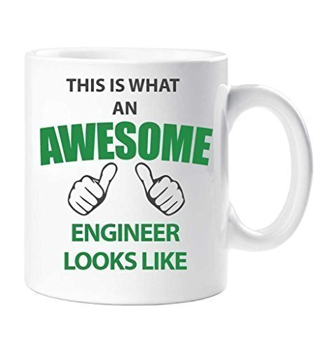 Esta Is What como ingeniero Looks Like regalo taza con forma de con texto