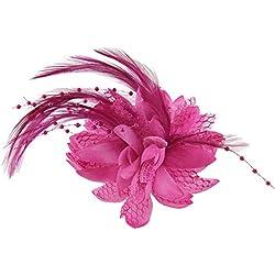 Dontdo - Tocado de plumas para el pelo, para mujer, para boda, fiesta, broche