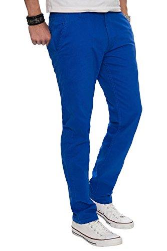 A. Salvarini pantaloni da uomo, design, Chino, regular fit AS016 blu royal