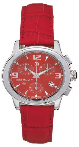 Swiss Military Women's 06-6000-04-004 Red Dreamland Chronograph Date Watch