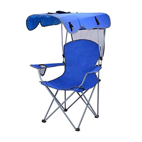Pkfinrd Garten Outdoor Tragbarer Sonnenschirm Klappstuhl Freizeit Strand Schauspieler Stuhl Stuhl Angeln Wild Camping Hocker Maximale Belastung 150 kg