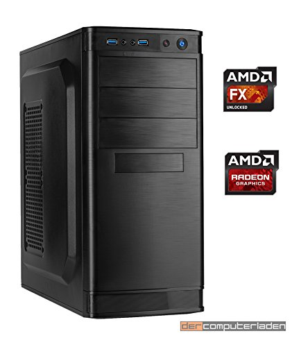 Office Aufrüst PC AMD, FX-8350 8x4.0 GHz, 16GB DDR3, Radeon HD3000 1GB, Computer zusammengestellt in Deutschland Desktop Rechner (1 Gb Turbo Memory)