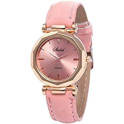 Luckycat Relojes Pulsera Mujer Cuero PU Acero Inoxidable Analógico Cuarzo Reloj Relojes Pulsera Mujer Cuarzo Romana Cuero de Imitación Relojes Regalo
