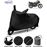 FABTEC Waterproof Bike Body Cover for Shine SP with Storage Bag Combo (Navy Blue)