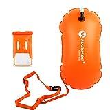 D DOLITY Boa Supporto Gonfiabile Nuoto Accessori Galleggianti di Nuoto + Custodia Impermeabile Telefono - Arancia