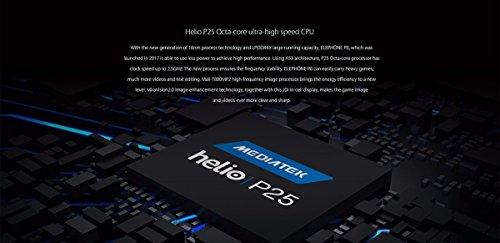 Elephone P8 mini 4G Smartphone Libre (4GB RAM + 64GB Rom, Dual Cámara 16 MP+13MP, Dual SIM Android 7.0 Teléfono Celular, MT6750T Octa-core 1.5GHz, Pantalla FHD 5.0'', Fingerprint GPS OTG) - Negro