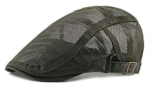 rmmütze Flat Cap Einstellbar Sommer Hut (Grün) ()