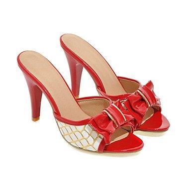 Sandales femmes chaussures d'été Club Slingback Supports personnalisés Bureau similicuir & Carrière Casual Robe Talon Bowknot Ruby
