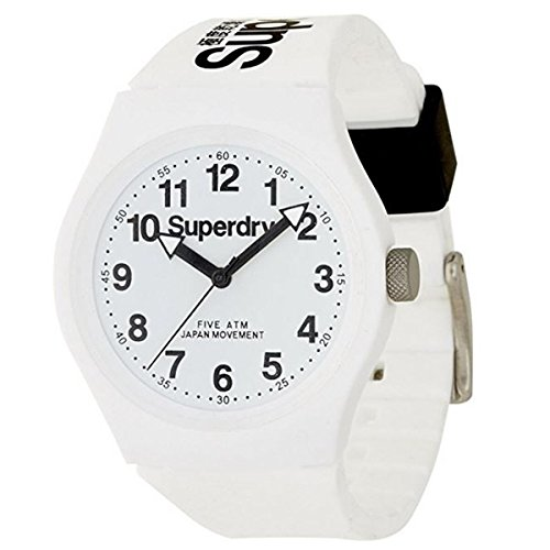 Superdry Herrenuhr Analog Quarz mit Silikonarmband – SYG164WW
