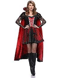 YRE Conde de Vampiro de la Condesa, Traje de Carnaval, Capa Impresa Traje de