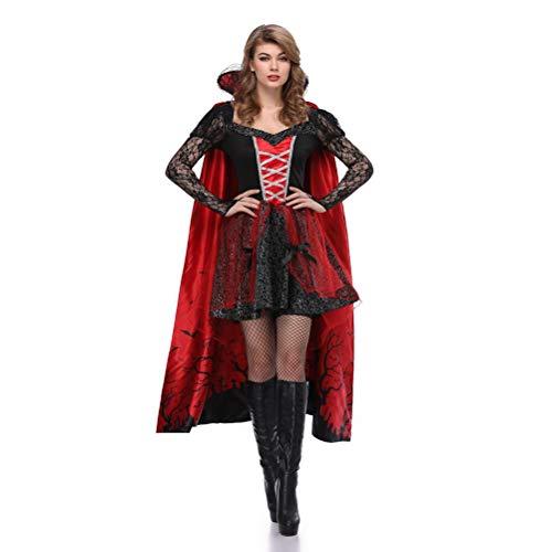 YRE Gräfin Vampire Earl, Karnevalskostüm, Gedruckter Mantel europäischer Adelsmacht, Maskenball, Osterkostüm,M