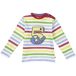Piccalilly camiseta de manga larga, jersey de algodón orgánico, unisex, rayas arcoiris, número 5
