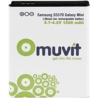 Muvit MUBAT0011 - Batería de litio para Samsung Galaxy Mini S5570, 1300 mAh