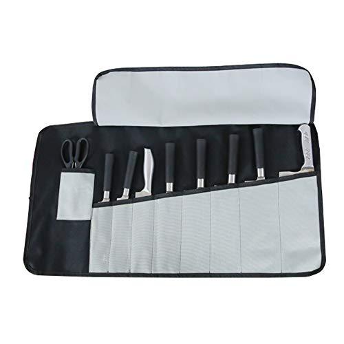 Un coltello da chef bag–Oxford chef coltello di viaggio arrotolabile, borsa portaoggetti con 9slot per schede Best gift for Pro chef o culinaria gli appassionati uomini donne hgj17-g