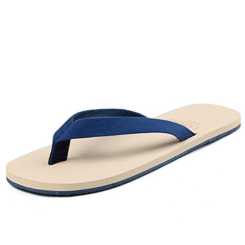 ALUK- Sommer Sandalen - Casual Anti-Rutsch Männer bequeme Verschleiß-resistenten Hausschuhe Strand Schuhe ( Farbe : Blau , größe : 43 ) Blau
